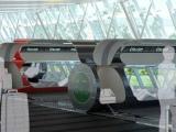 Et3.com nuotr./Taip galėtų atrodyti magnetinių traukinių stotis.