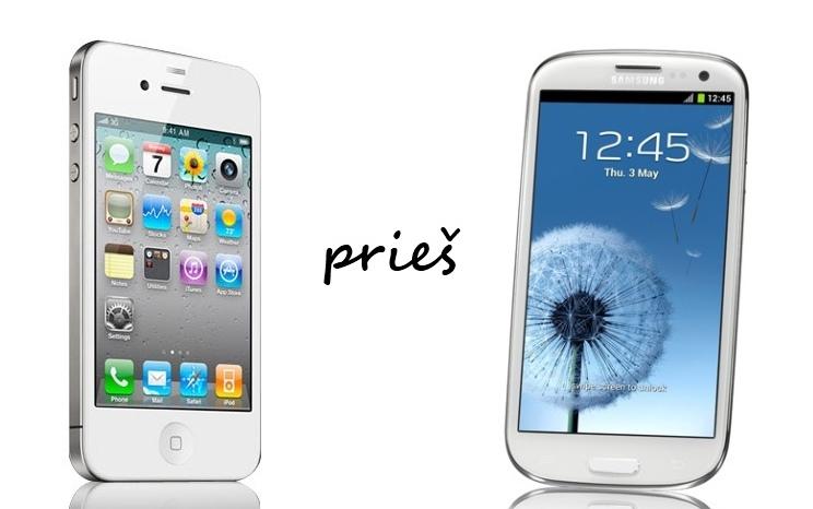 """iPhone 4S"" prieš ""Galaxy S3"""