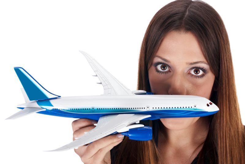 Mergina laiko lėktuvo modelį