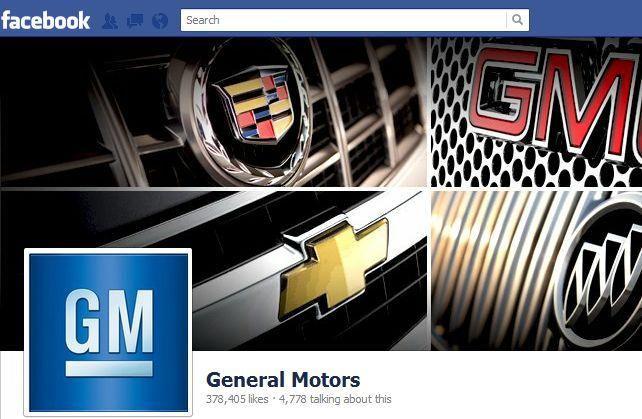 """General Motors"" puslapis feisbuke"
