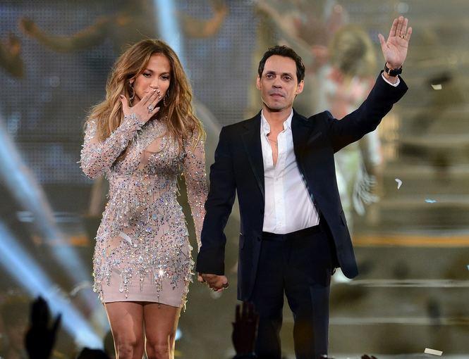 Scanpix nuotr./Jennifer Lopez ir Marcas Anthony Las Vegase