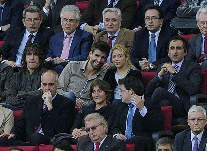 Scanpix nuotr./Gerardo Pique su Shakira