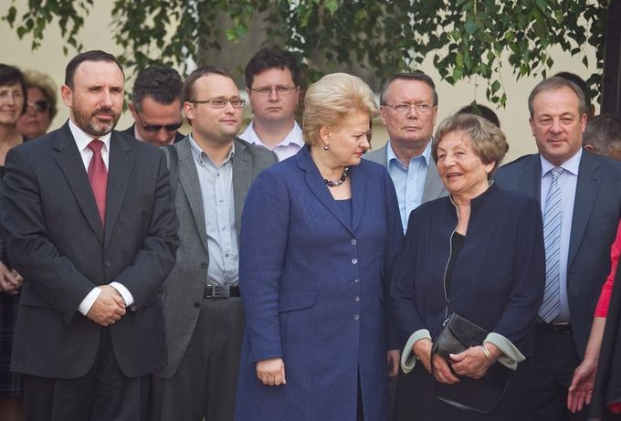 Irmanto Gelūno/15min.lt nuotr./Arūnas Gelūnas, Dalia Grybauskaitė ir Genovaitė Marcinkevičienė
