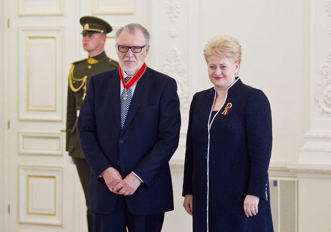 uozas Budraitis ir Dalia Grybauskaitė