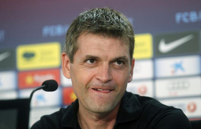 Reuters/Scanpix nuotr./Tito Vilanova pirmą kartą vadovaus komandai Čempionų lygos turnyre