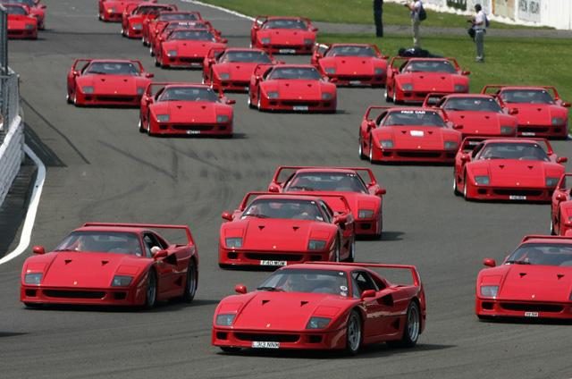 Ferrari F40 Silverstoune trasoje