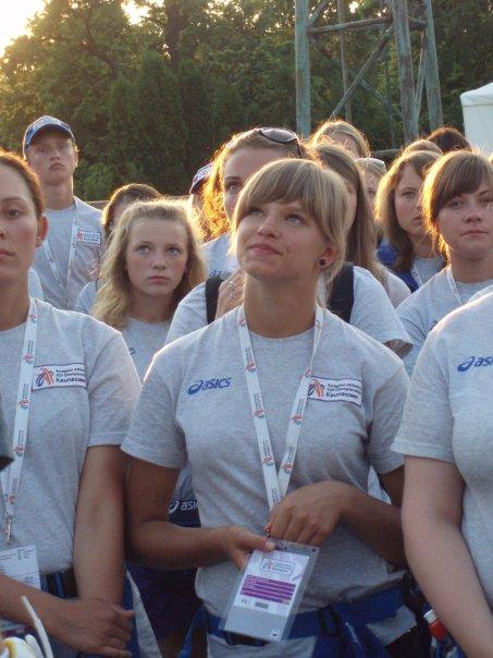 Greta Juodeikaitė G. Juodokaitė (priekyje) 2009 m. Lietuvoje vykusiame Europos jaunimo lengvosios atletikos čempionate buvo savanorė talkininkė