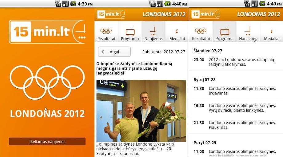 Nemokama proglamėlė padės sekti Londono olimpiados naujienas.