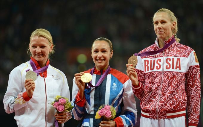 AFP/Scanpix nuotr./Lilli Schwarzkopf, Jessica Ennis ir Tatjana Černova