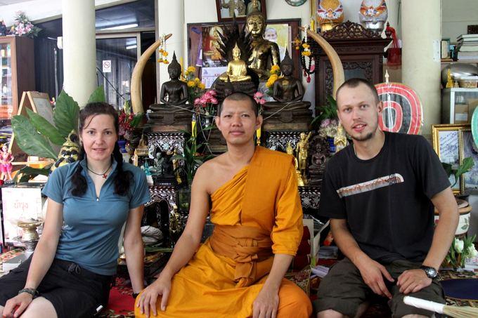 Evelinos ir Karolio nuotr./Mus priėmęs ir vaiainęs budistų vienuolis