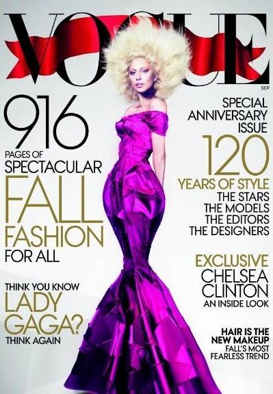 "Lady Gaga ant jubiliejinio  ""Vogue"" viršelio"