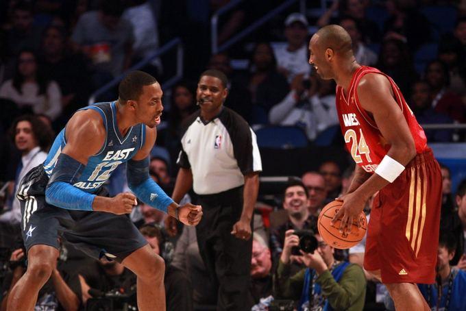 AFP/Scanpix nuotr./Dwightas Howardas ir Kobe Bryantas Visų žvaigždžių rungtynėse