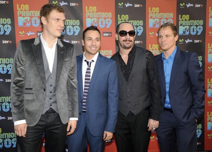 Reuters/Scanpix nuotr./Vaikinų grupė Backstreet Boys: Nickas Carteris, Howie Doroughas, AJ McLeanas ir Brianas Littrellas