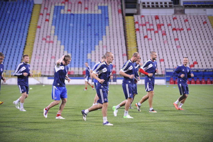 fkekranas.lt nuotr./Ekrano futbolininkų treniruotė Bukareate