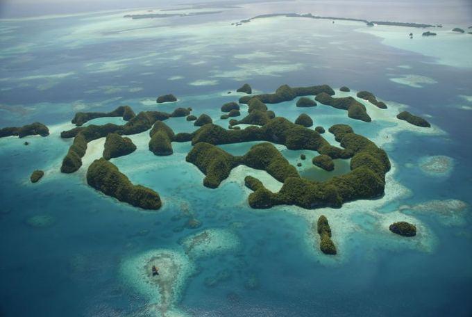 Shutterstock nuotr./Pietinės lagūnos kalvų salos Palau