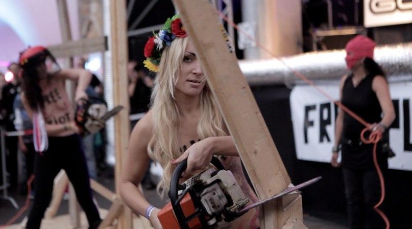 Dar viena Ukrainos merginų akcija