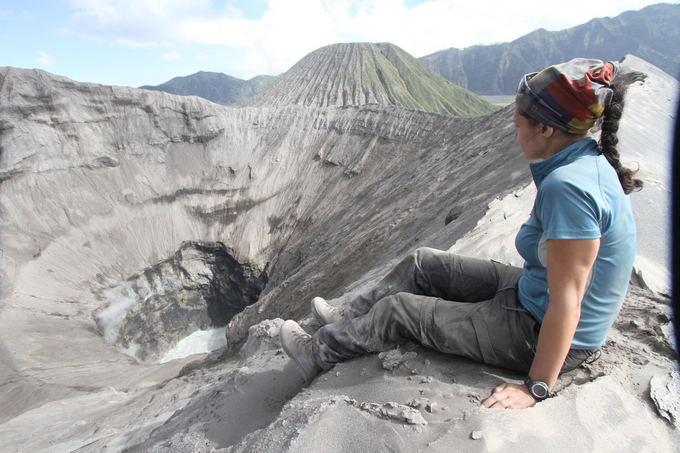 Evelinos ir Karolio nuotr./Evelina. Atrastas savas kampas ant vulkano kraato