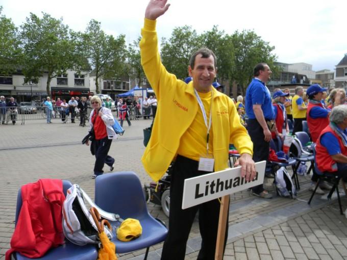 Gyvasties nuotr./`ią vasarą R.Vekerotas dalyvavo Apeldorne (Nyderlandai) vykusiose žmonių su transplantuotais organais žaidynėse.