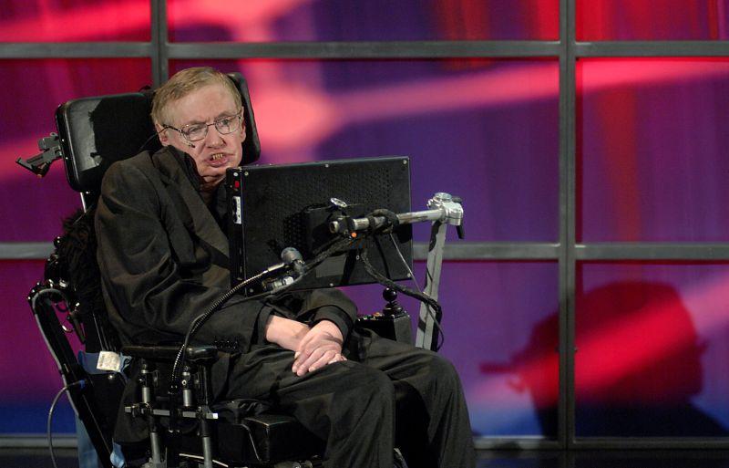 Anglų fizikas Stephenas Hawkingas