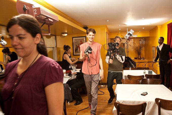 Dustin Ersek-Mull nuotr./Romas Zabarauskas filmavimo aikatelėje