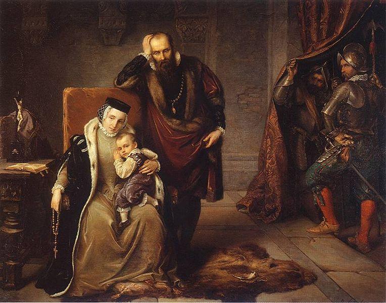 Kotryna, jos vyras, būsimasis Švedijos karalius Jonas III su karalaičiu, būsimuoju Lietuvos didžiuoju kunigaikščiu ir Lenkijos karaliumi Žygimantu Vaza