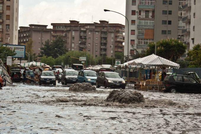 D. Smagurauskaitės nuotr./Potvynis Palerme