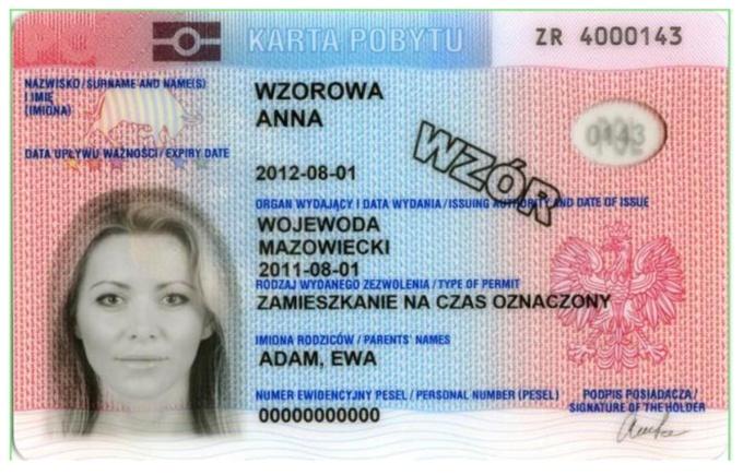 Leidimo gyventi Lenkijoje pavyzdys