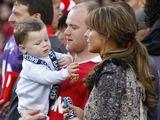 """Reuters""/""Scanpix"" nuotr./Wayne'as Rooney su žmona Coleen ir sūnumi Kai"