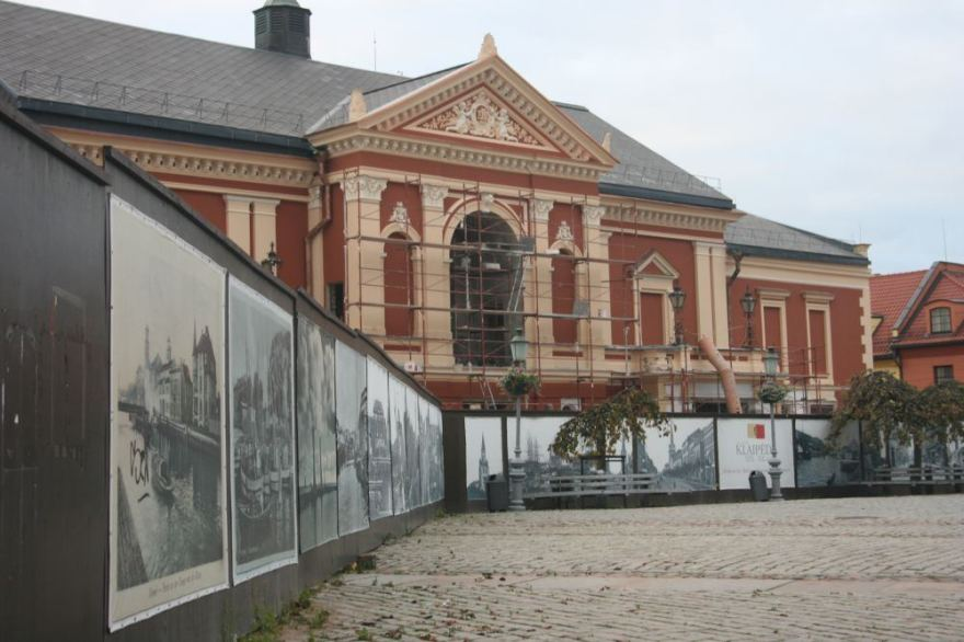 Aurelijos Kripaitės/15min.lt nuotr./Klaipėdos dramos teatro rekonstrukciją norima užbaigti 2014-aisiais.