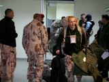 Birutės bataliono nuotr./Kariai oro uoste