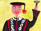 Austėjos Kasputytės piešinys/Konstitucijos 20-mečio proga skelbto moksleivių piešinių konkurso III vietos laimėtojos piešinys