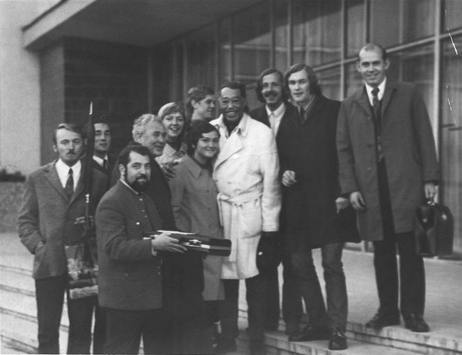 J.Snieakos archyvo nuotr./In 1971, musicians from Kaunas went to Minsk, to see a performance of Duke Elingtono (centre). Elington and Glenn Miller were the greatest influences for Lithuanian jazz musicians.