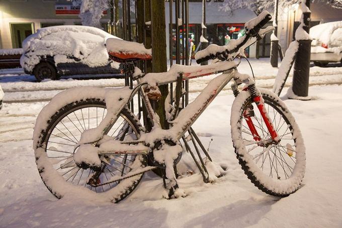 AFP/Scanpix nuotr./Vokietija sulaukė žiemos.