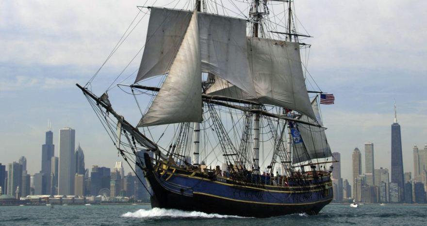 AFP/Scanpix nuotr./Burlaivis HMS Bounty