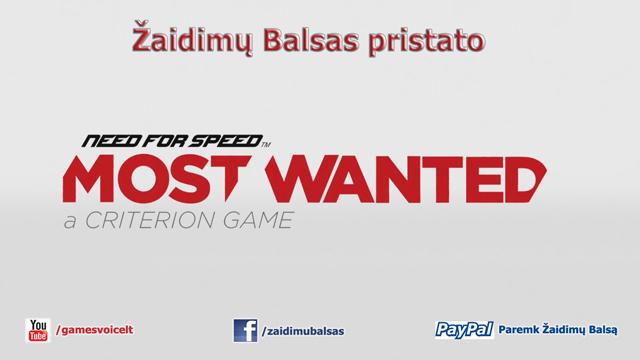 Žaidimų Balsas pristato Need for Speed Most Wanted