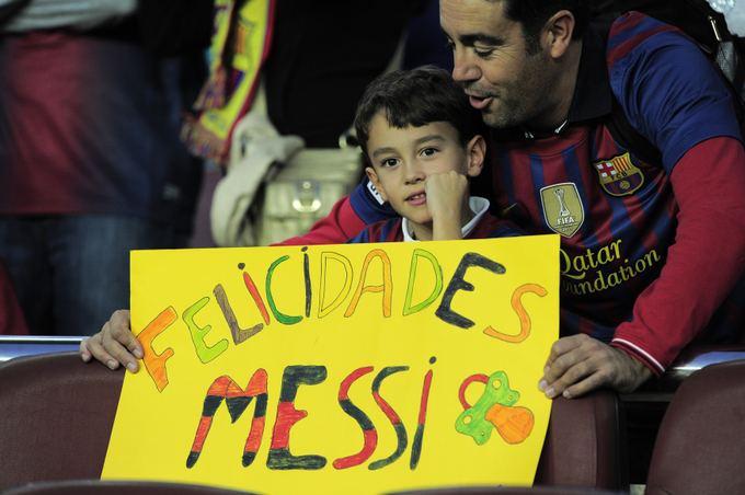 Reuters/Scanpix nuotr./Sveikinimai Lioneliui Messi tapus tėvu