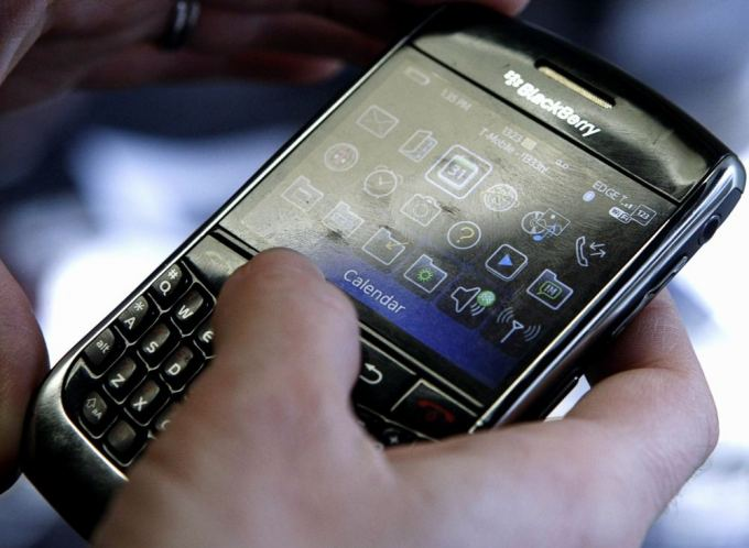 Reuters/Scanpix nuotr./BlackBerry telefonas