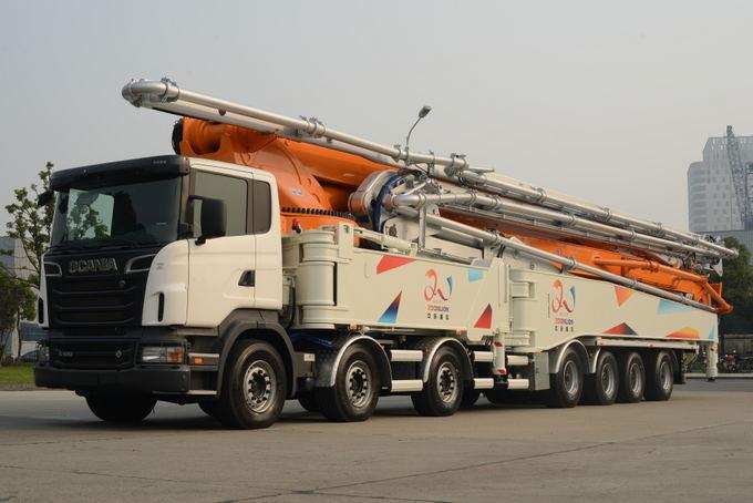 Gamintojo nuotr./Guinnesso rekordą pagerinęs Scania sunkvežimis