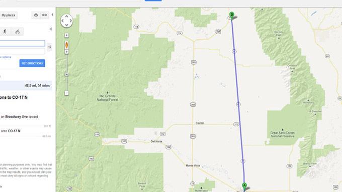 Google Maps nuotr./Greitkelis Kolorado valstijoje