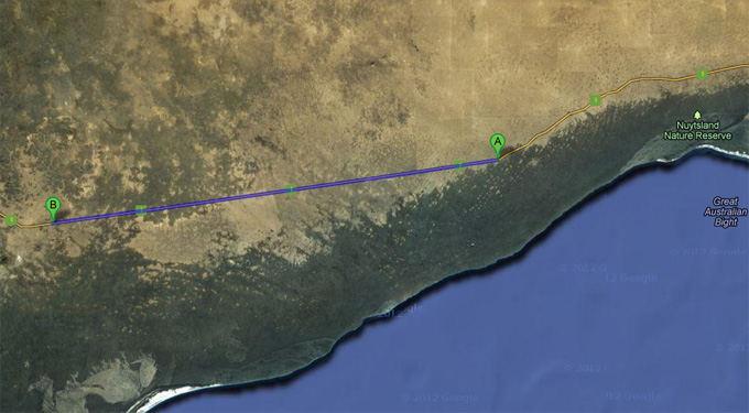 Google Maps nuotr./Greitkelis Australijoje