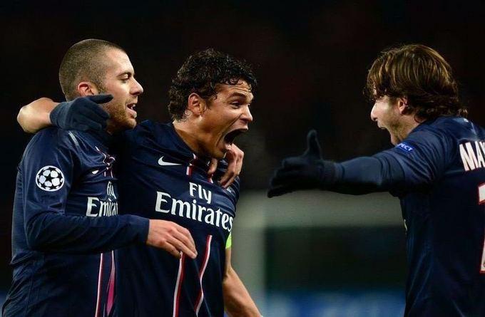 Reuters/Scanpix nuotr./Thiago Silva pelnė pirmąjį įvartį Paris Saint Germain ekipai