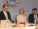 Juliaus Kalinsko/15 minučių nuotr./Ia kairės: Viktoras Uspaskichas, Vitalija Vonžutaitė, Vytautas Gapays