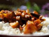 Autorės nuotr./Ryžių makaronai mangų padaže