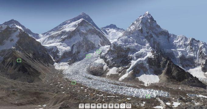GlacierWorks nuotr./Interaktyvi Everesto nuotrauka