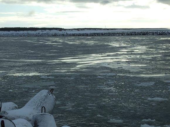 Pirmąją Naujųjų metų dieną Klaipėdos uosto akvatoriją užplūdo lytys, nes pamaryje prasidėjusio polaidžio vanduo sutrupino Kuršių marias dengusį ledą