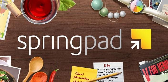 """Mobilioji užrašinė """"Springpad"""""""
