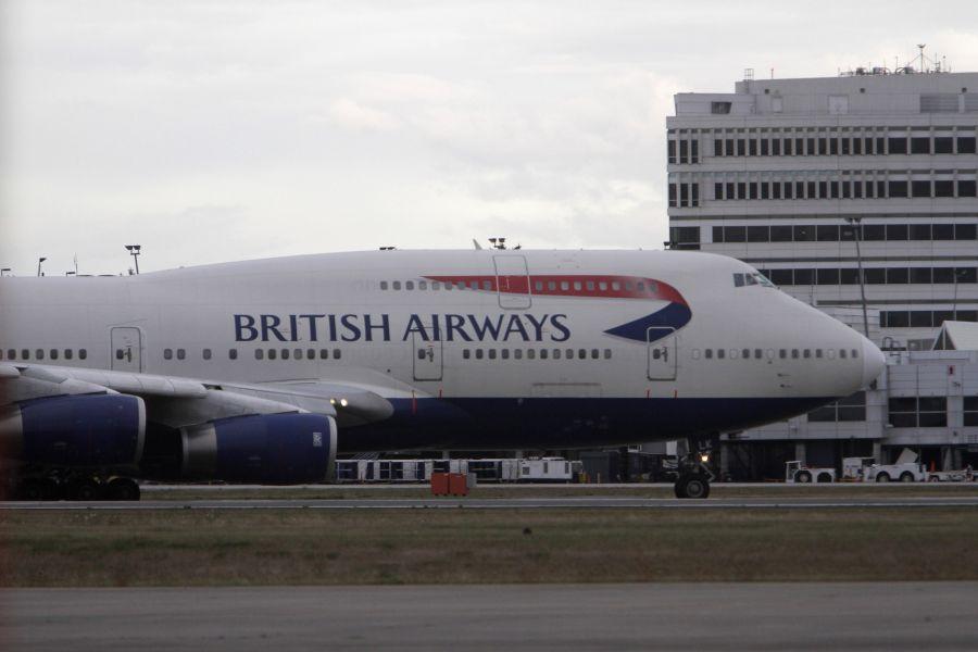 Didžiosios Britanijos skrydžių bendrovės lėktuvas