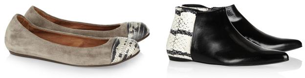 Mados namų nuotr./Ia kairės: Lanvin balerinos, Pierre Hardy batai.