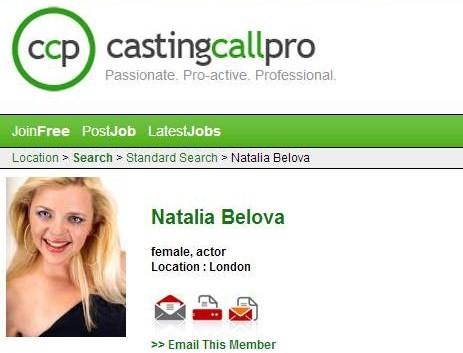 Kadras iš CastinCallPro.com/Natalija Belova