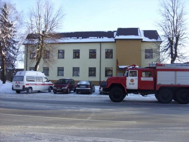 kelmiskiams.lt nuotr./Anonimas praneaė, kad Kelmės rajono apylinkės teismo rūsyje yra padėtas sprogmuo.